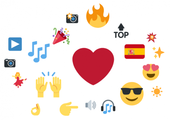 Emoji cloud about Rosalía